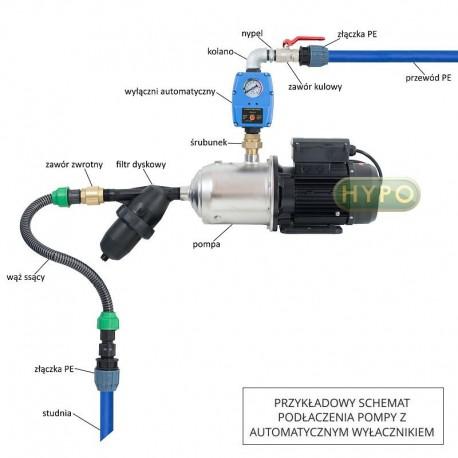 Kompletny hydrofor bezzbiornikowy HP1500 INOX CP-95 230V IBO