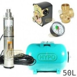 Zestaw pompa 3,5SCR1,8-50-0,5 230V IBO zbiornik 50L poziomy