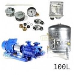 Zestaw pompa SKA3,03 400V HYDRO-VACUUM zbiornik 100l ocynkowany + osprzęt SKA3.03