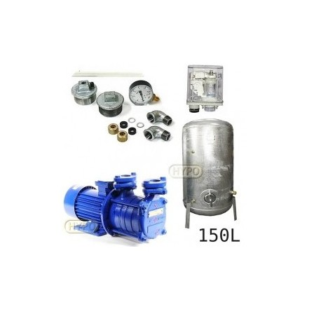 Zestaw pompa SM3,02 230V HYDRO-VACUUM zbiornik 150l ocynkowany + osprzęt SM3.02