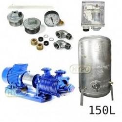 Zestaw pompa SKA3,03 400V HYDRO-VACUUM zbiornik 150l ocynkowany + osprzęt SKA3.03