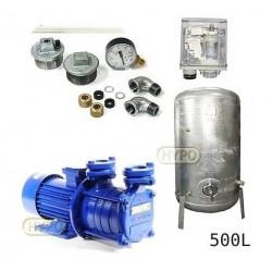 Zestaw pompa SM4,02 230V HYDRO-VACUUM zbiornik 500l ocynkowany + osprzęt SM4.02