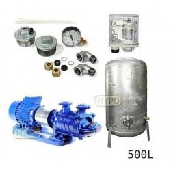 Zestaw pompa SKA4,02 400V HYDRO-VACUUM zbiornik 500l ocynkowany + osprzęt SKA4.02