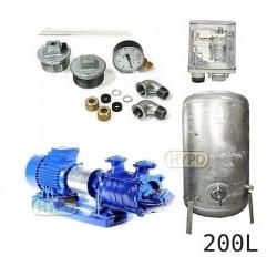 Zestaw pompa SKA3,03 230V HYDRO-VACUUM zbiornik 200l ocynkowany + osprzęt SKA3.03