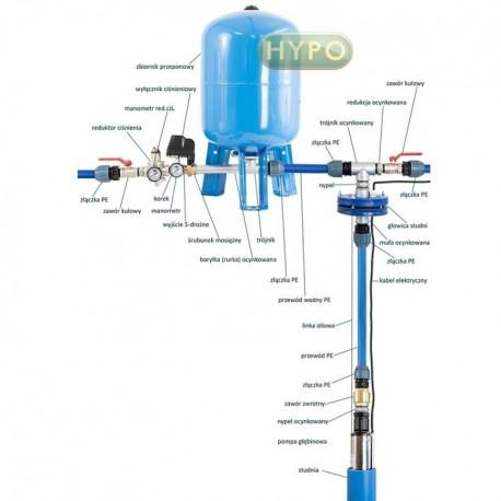 Kompletny zestaw pompa 3,5SCM2/14 230V IBO zbiornik 150L Aquasystem pionowy