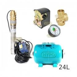 Zestaw pompa 3SKM100 230V IBO zbiornik 24L poziomy