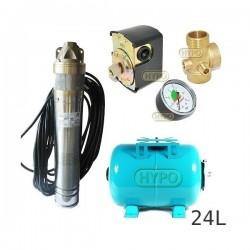 Zestaw pompa SKT100 400V OMNIGENA zbiornik 24L poziomy