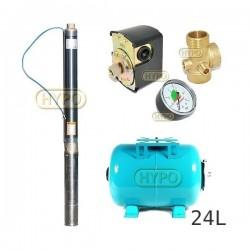 Zestaw pompa 3ti20 230 IBO zbiornik 24L poziomy