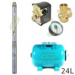 Zestaw pompa 3B24 230V OMNIGENA zbiornik 24l poziomy