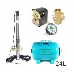 Zestaw pompa 3,5SCM2/14 230V IBO zbiornik 24L poziomy