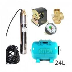 Zestaw pompa SKT200 400V OMNIGENA zbiornik 24L poziomy