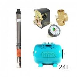 Zestaw pompa 4SDm3-14 230V IBO zbiornik 24l poziomy