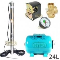 Zestaw pompa 3,5SC3/19 400V OMNIGENA zbiornik 24L poziomy