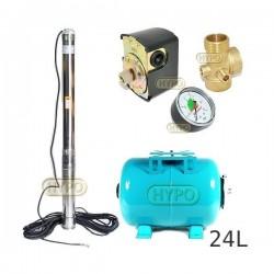 Zestaw pompa 3,5SC3/19 230V OMNIGENA zbiornik 24L poziomy
