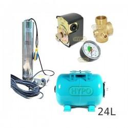 Zestaw pompa OMNITECH1500 230V OMNIGENA zbiornik 24L poziomy
