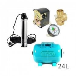 Zestaw pompa TM10 230V Leader zbiornik 24L poziomy