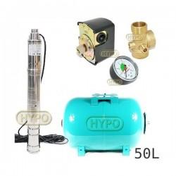 Zestaw pompa 3SQIBO0,55 IBO 230V zbiornik 50L poziomy