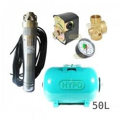 Zestaw pompa SKT100 400V OMNIGENA zbiornik 50L poziomy