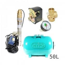 Zestaw pompa 3SKM100 OMNIGENA 230V zbiornik 50L poziomy