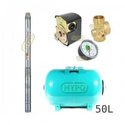 Zestaw pompa 3T23 230V OMNIGENA zbiornik 50L poziomy 3T-23