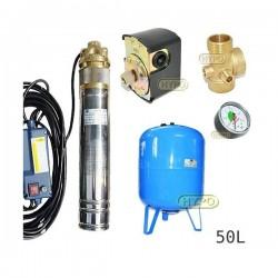 Zestaw pompa SKM100 230V OMNIGENA zbiornik AQUA-SYSTEM 50L pionowy