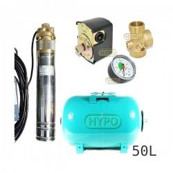 Zestaw pompa 4SKM100 230V IBO zbiornik 50l poziomy