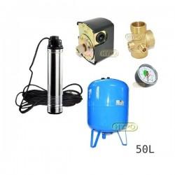 Zestaw pompa TN10 230V OMNIGENA zbiornik AQUA-SYSTEM 50L pionowy