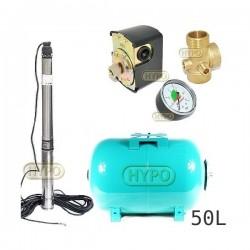 Zestaw pompa 3,5SCM2/14 230V IBO zbiornik 50L poziomy