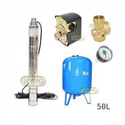 Zestaw pompa 3SQIBO 0,75 IBO 230V zbiornik 50L pionowy