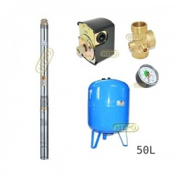 Zestaw pompa 3T23 400V OMNIGENA zbiornik AQUA-SYSTEM 50L pionowy 3T-23
