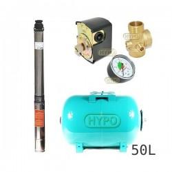 Zestaw pompa 4SD3-14 400V IBO zbiornik 50l poziomy