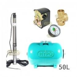 Zestaw pompa 3,5SCM3/18 230V IBO zbiornik 50L poziomy