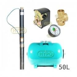 Zestaw pompa 3ti37 230V IBO zbiornik 50L poziomy