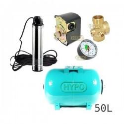 Zestaw pompa TM10 230V Leader zbiornik 50L poziomy