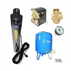 Zestaw pompa BHP LEADER 230V zbiornik AQUA-SYSTEM 50L pionowy