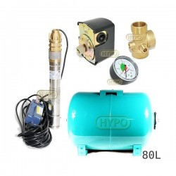 Zestaw pompa 3SKM100 230V IBO zbiornik 80L poziomy