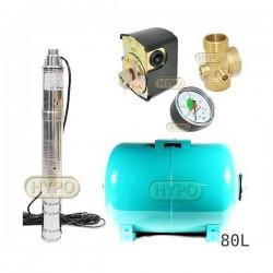 Zestaw pompa 3SQIBO0,55 IBO 230V zbiornik 80L poziomy