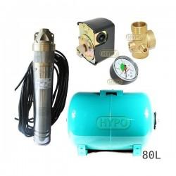Zestaw pompa SKT100 400V OMNIGENA zbiornik 80L poziomy