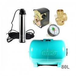 Zestaw pompa TN10 230V OMNIGENA zbiornik 80L poziomy