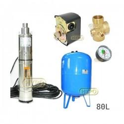 Zestaw pompa 3,5SCR1,8-50-0,5 230V IBO zbiornik 80L pionowy