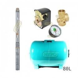 Zestaw pompa 3T32 400V OMNIGENA zbiornik 80L poziomy 3T-32