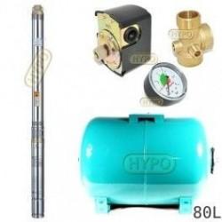 Zestaw pompa 3B24 400V OMNIGENA zbiornik 80l poziomy 3B-24