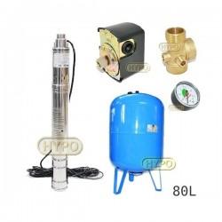 Zestaw pompa 3SQIBO 0,55 IBO 230V zbiornik 80L pionowy