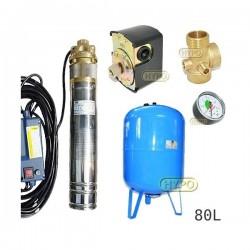 Zestaw pompa SKM100 230V OMNIGENA zbiornik AQUA-SYSTEM 80L pionowy