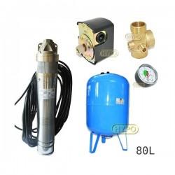 Zestaw pompa SKT100 400V OMNIGENA zbiornik AQUA-SYSTEM 80L pionowy