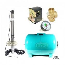 Zestaw pompa 3,5SCM2/14 230V IBO zbiornik 80L poziomy