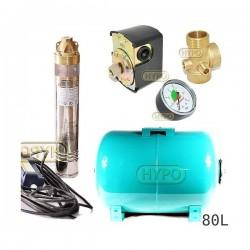 Zestaw pompa SKM200 230V OMNIGENA zbiornik 80L poziomy