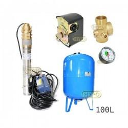 Zestaw pompa 3SKM100 230V IBO zbiornik 100L pionowy