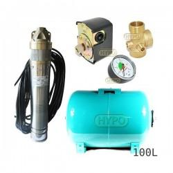 Zestaw pompa SKT100 400V OMNIGENA zbiornik 100L poziomy