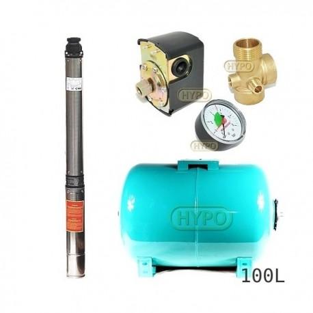 Zestaw pompa 4SDm3-14 230V IBO zbiornik 100l poziomy